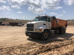 Roll Off Dumpster Truck at Landfill